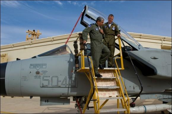 Tornado italiano que participou do Blue Flag em Israel - foto Força Aérea Italiana