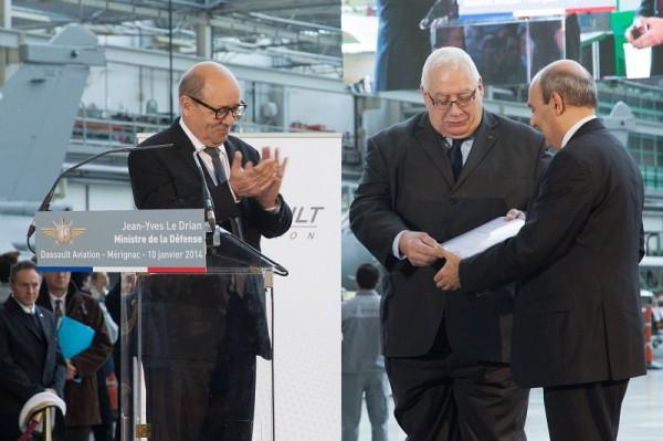 formalizacao do contrato do rafale F3 R - foto dassault