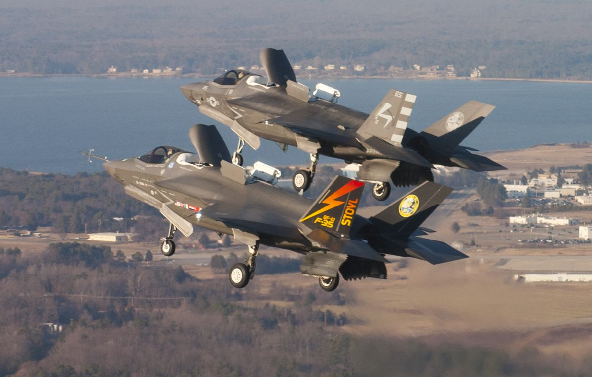 F-35B lado a lado - foto US DOD