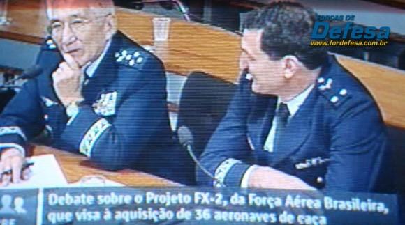 Saito e Crepaldi na CRE - captação da imagem da TV Senado - Forças de Defesa