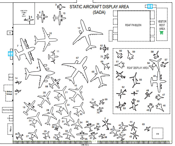 Singapore Airshow 2014 display area