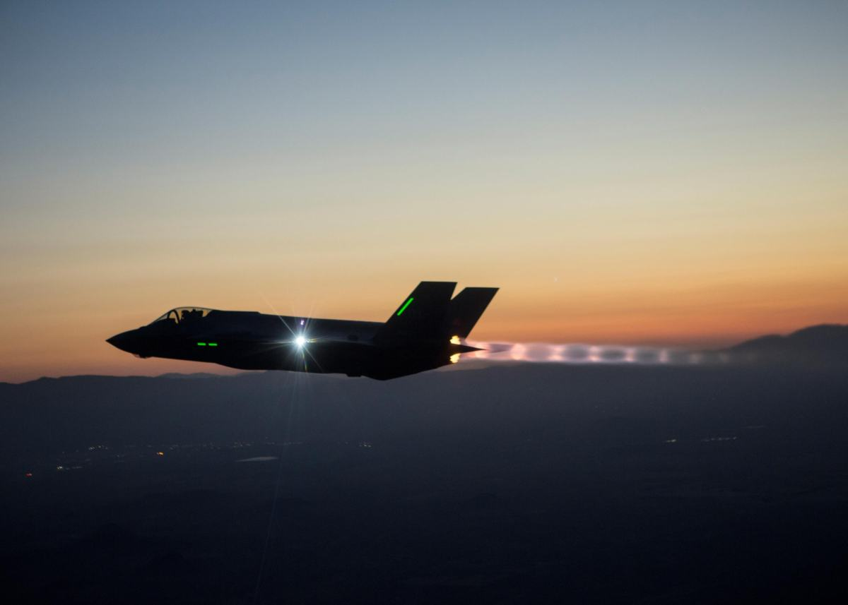 he F-35 Integrated Test Force is completing a series of night flights testing the ability to fly the jet safely in instrument meteorological conditions where the pilot has no external visibility references