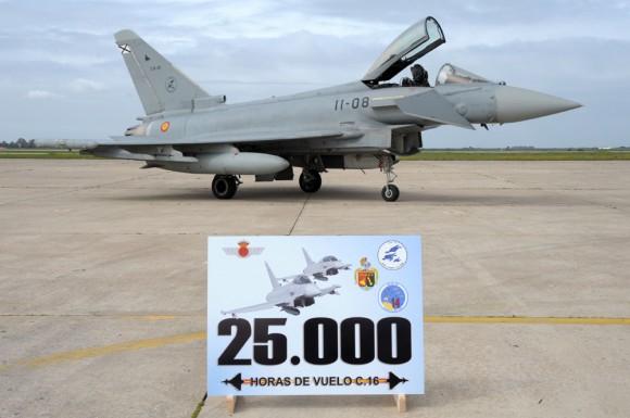 25000 horas de voo do Eurofighter Typhoon - C16 na Espanha - foto Força Aérea Espanhola