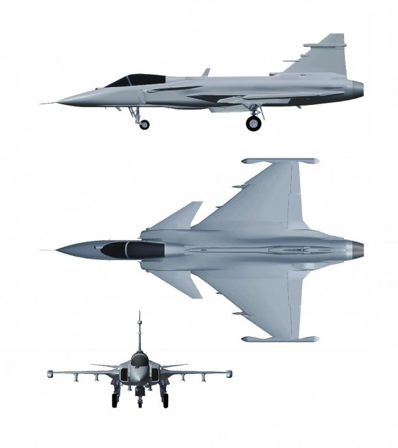 Gripen NG - 3 view