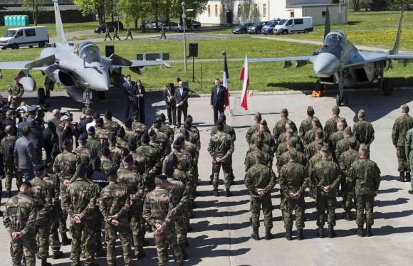 Rafale e MiG-29 em Malbork na Polônia  - foto Min Def França