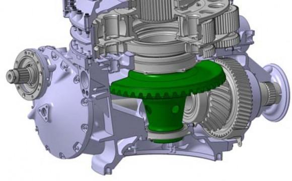 novo eixo vertical da transmissão do EC225-EC725 - ampliação para destaque
