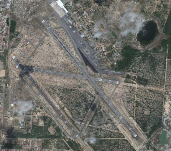 Base Aérea de Natal e Aerop Aug Severo RN  - imagem Google maps