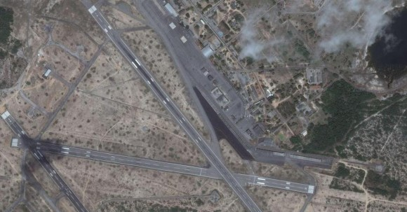 Base Aérea de Natal junto a Aerop Aug Severo RN -  imagem Google maps