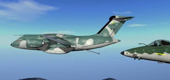 Cena vídeo KC-390 - FAB