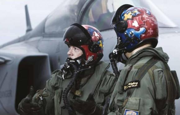 Equipe de testes suíça do Gripen - foto Saab