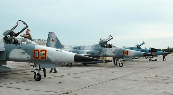 F-5N de adversary squadron na NAS Key West - foto USN