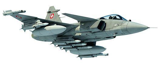 Gripen ilustração nas cores suíças - via Força Aérea Suíça