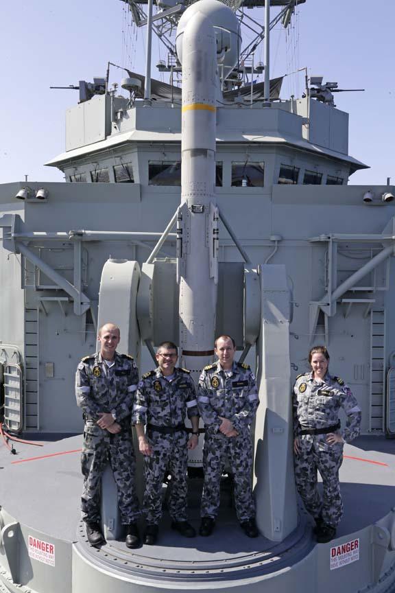 Harpoon em lançador Mk13 da HMAS Melbourne - foto MD Australia