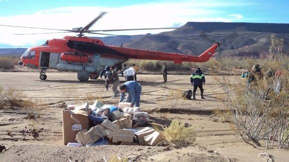 MI-17 argentino em ajuda humanitária - foto 3 Força Aérea Argentina