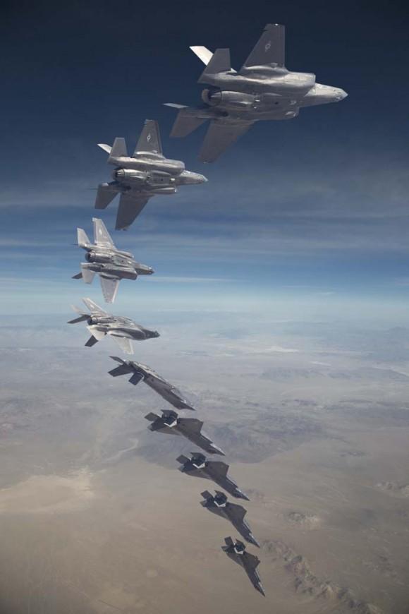 Teste de voo do MGCAS do F-35 - fotomontagem Lockheed Martin