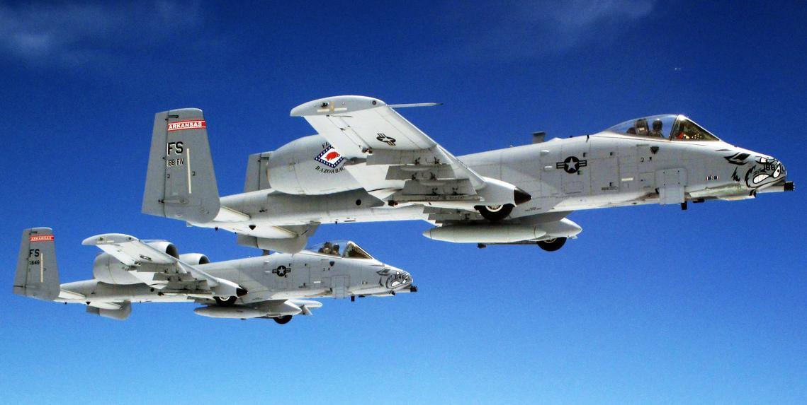 A-10 dão adeus à 188th Fighter Wing -foto USAF