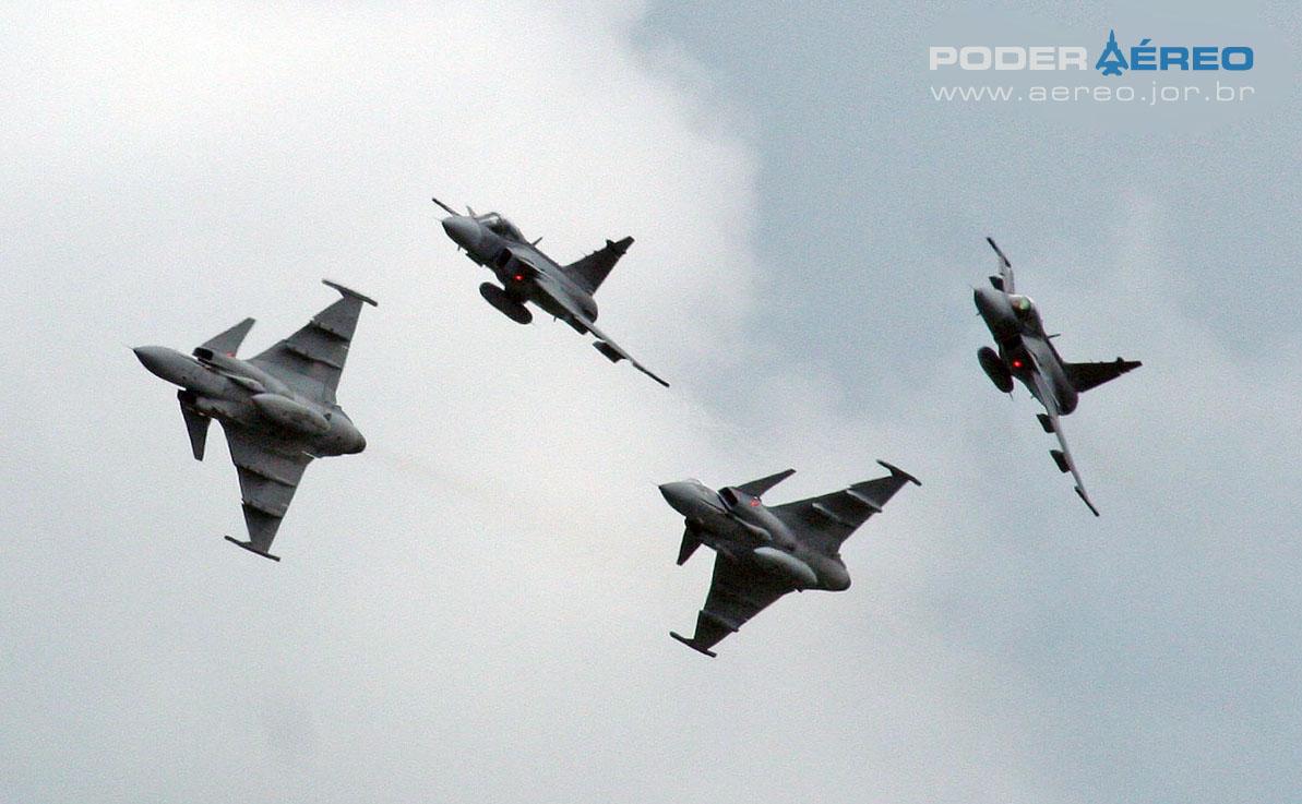 Apresentação de caças Gripen na Suécia - foto A Galante - Poder Aéreo