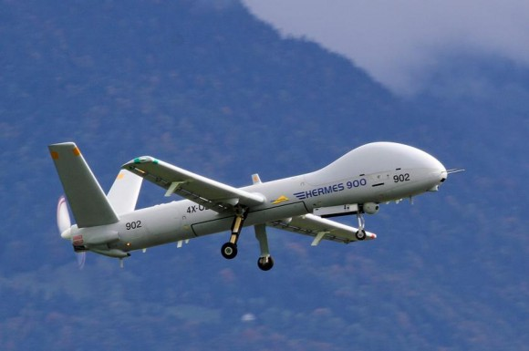 Hermes 900 - foto via Força Aérea Suíça