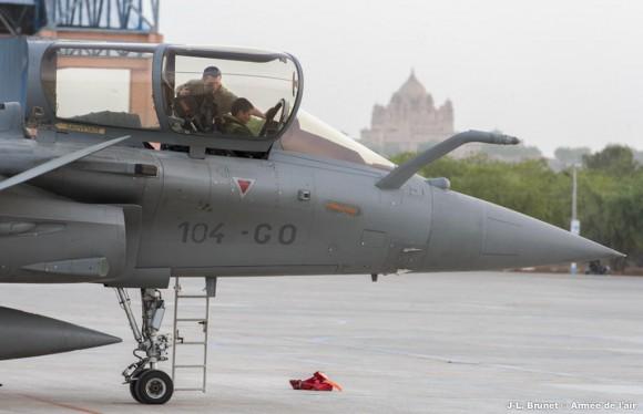 Rafale - Garuda V na Índia - foto via Força Aérea Francesa