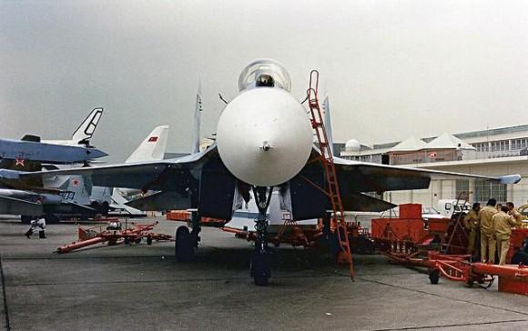 Su-27 em Le Bourget 1989