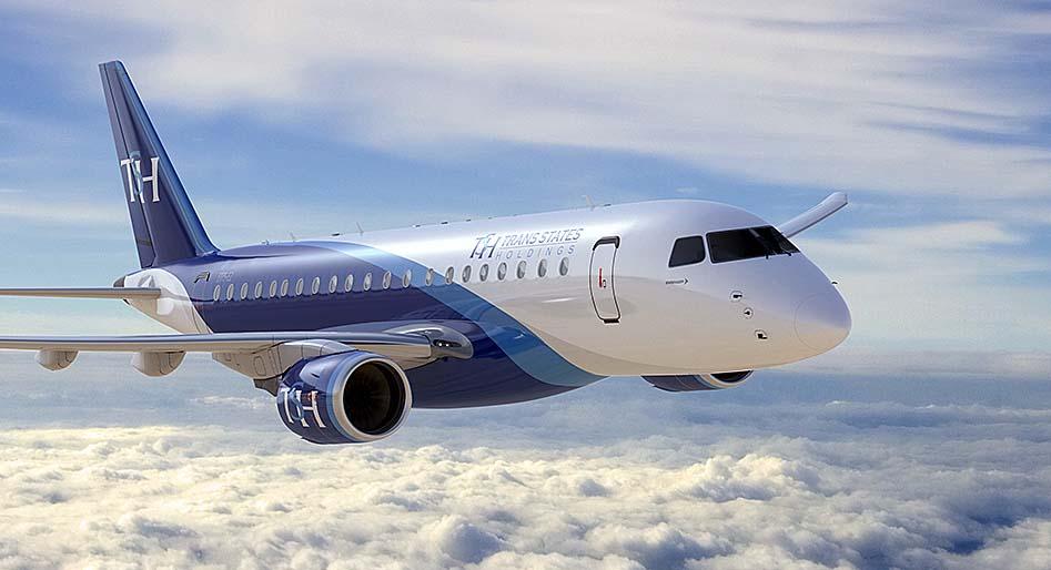 E175-E2 da Trans States Holdings - destaque foto Embraer