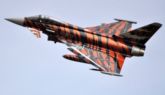 Eurofighter Typhoon Luftwaffe vencedor pintura Tiger Meet 2014 - foto Eurofighter