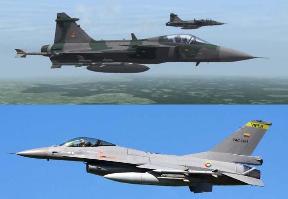 Gripen FAB e F-16 FAB