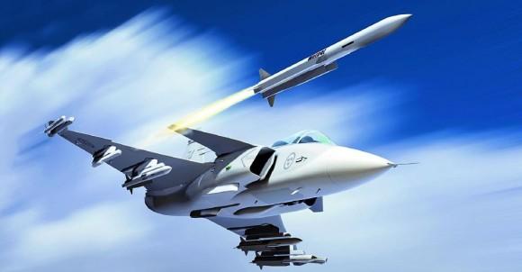 Gripen Meteor - ilustração Saab