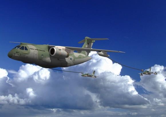KC390_DR4_RefuelingAMX - imagem Embraer