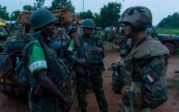 Forças francesas e da MISCA na Republica Centro Africana - foto MD França