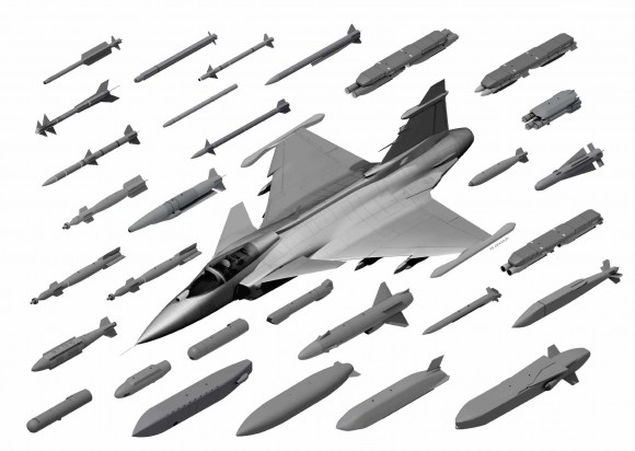 Gripen E Weapons - imagem Saab
