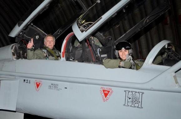 MD Burgos e Capitão Miranda em F-5F Tiger III Chileno - foto FACh