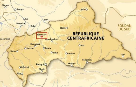 Mapa Republica Centro Africana - imagem MD França