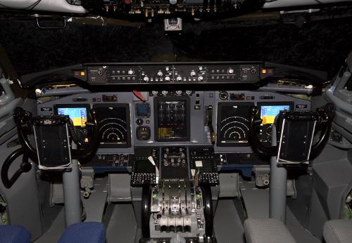 Painel de AWACS da OTAN - foto Boeing