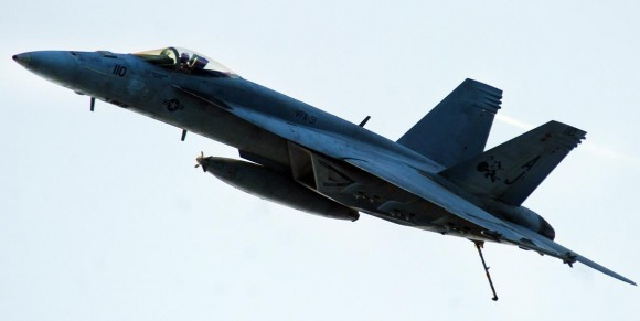 Super Hornet do Tomcatters - VFA 31 - em julho - foto USN