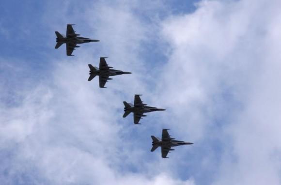 caças CF-18 canadenses em Siauliai - foto MD Lituânia