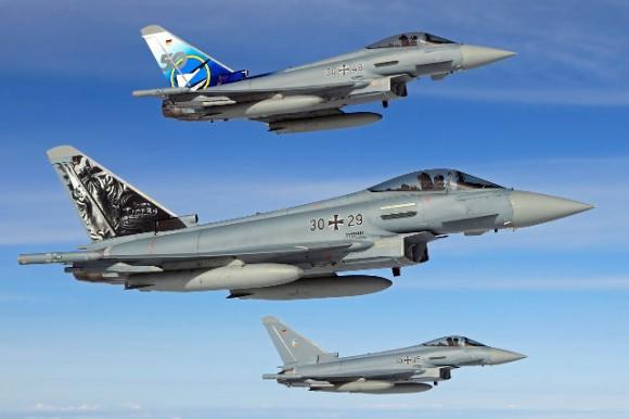 caças Eurofighter - foto Força Aérea Alemã