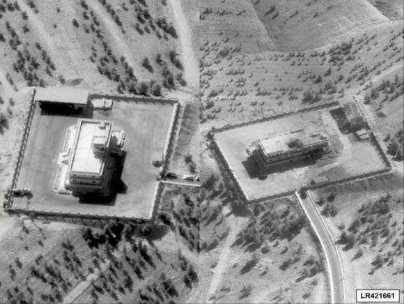 Alvo do EI atacado pelos F-22 da USAF na Síria - foto via CodeOne Magazine