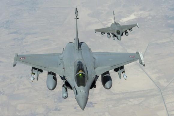 Ataque francês ao EI - caças Rafale - foto 3 Min Def França