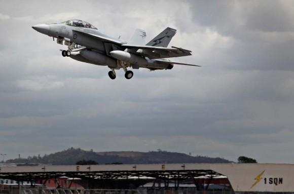 Caça Super Hornet australiano parte para o Oriente Médio - foto Min Def Australia