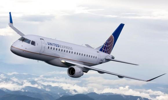 E-175 United Express da United Airlines - imagem Embraer