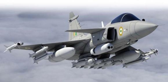 Gripen IN - concepção artística - imagem Saab - site da campanha do Gripen para a Índia