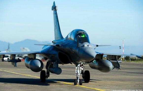 Rafale em exercício Serpentex realizado em Solenzara - Córsega - foto Força Aérea Francesa
