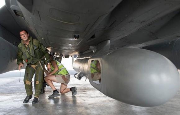 Rafale - primeiro voo reconhecimento sobre Iraque - foto Min Def França