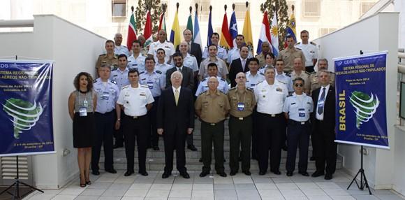Reunião Unasul VANT regional - foto Ministério da Defesa