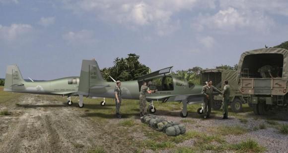 T-Xc - emprego militar - ligação e transporte - concepção artística Novaer