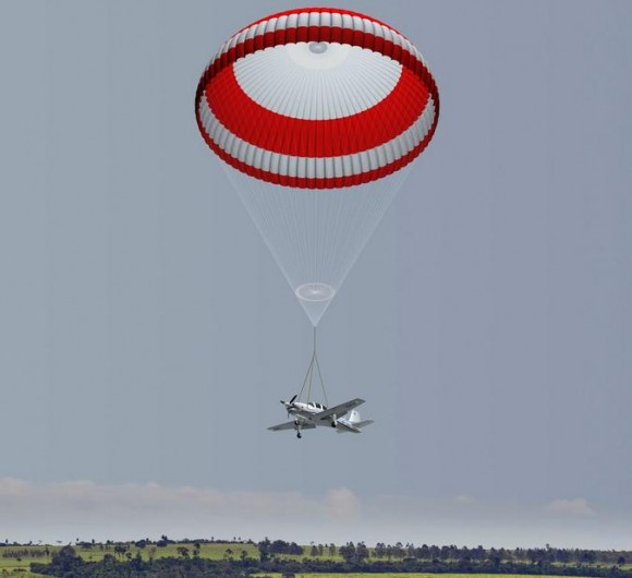 T-Xc - equipado com paraquedas - concepção artística Novaer