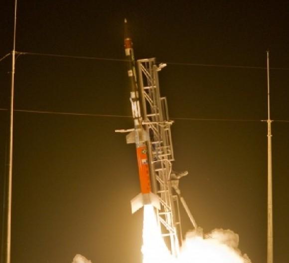 lançamento do foguete VS-30 V13 com combustível líquido - ampliação foto FAB