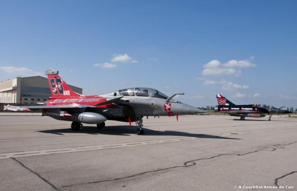 50 anos dissuasão nuclear França - Rafale e Mirage 2000N - foto Força Aérea Francesa