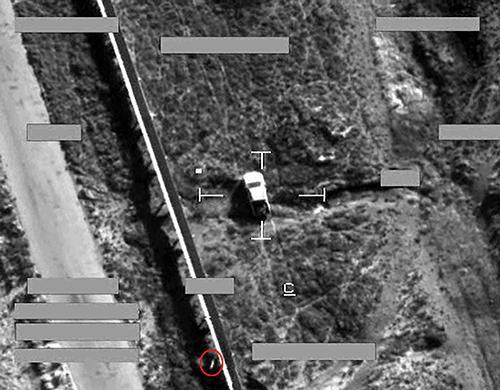 Alvo de ataque de jatos Tornado ao EI no Iraque - foto RAF